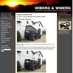 """Wiberg & Wiberg. Forhandler af Camper, Landrover 110""""."""