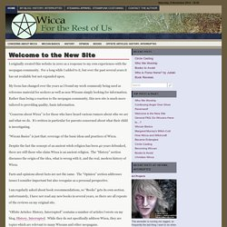 Wicca: For the Rest of Us