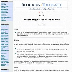 Wiccan magickal spells and charms - StumbleUpon