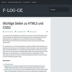 Wichtige Seiten zu HTML5 und CSS3 - F-LOG-GE