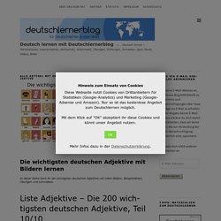 Die wichtigsten deutschen Adjektive mit Bildern und Beispielsätzen