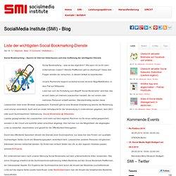Liste der wichtigsten Social Bookmarking-Dienste