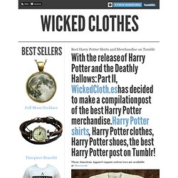 Best Harry Potter Shirts and Merchandise on Tumblr