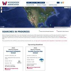 Associates » Searches in Progress
