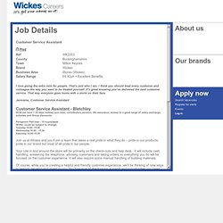 Wickes Careers