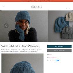Wide Rib Hat + Hand Warmers