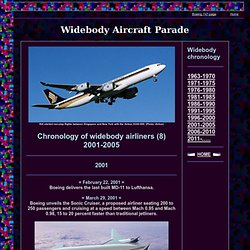 Widebody Aircraft Chronology - Part 8 - 2001-2005 -