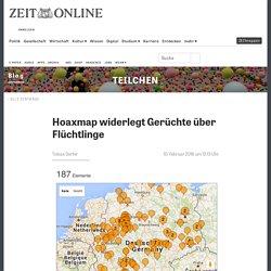 Die Hoaxmap widerlegt Gerüchte über Flüchtlinge