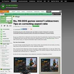 Felipe Pepe's Blog - No, MS-DOS games weren't widescreen: Tips on correcting aspect ratio