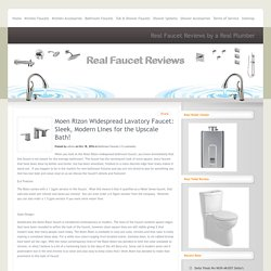 Moen Rizon Widespread Lavatory Faucet: Sleek, Modern Lines for the Upscale Bath!