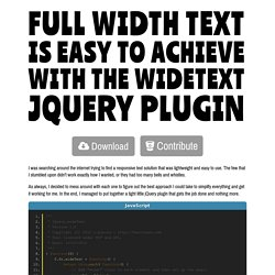 WideText jQuery Plugin
