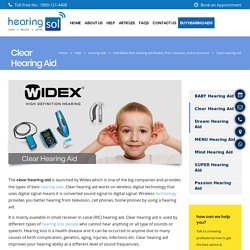 Widex - Clear hearing aid for clear sound