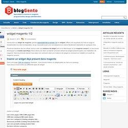 widget magento 1/2 | Admin