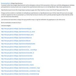 Widget OpenSankore