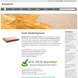 Cork Underlayment Sheets | WidgetCo®