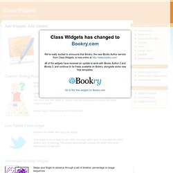 Class Widgets - Custom Widgets for iBooks Author