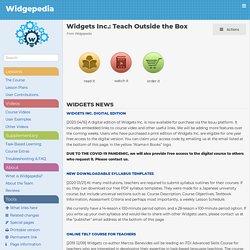 Widgets Inc.: Teach Outside the Box - Widgepedia