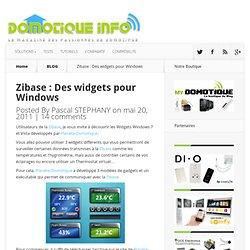 Zibase : Des widgets pour Windows