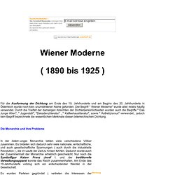 Wiener Moderne (1890 bis 1925 )
