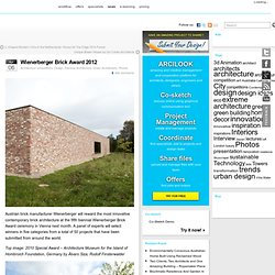 Wienerberger Brick Award 2012 | Architecture competitions