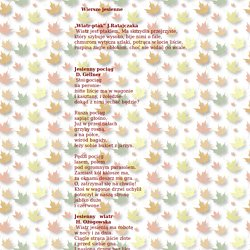 wiersze jesienne