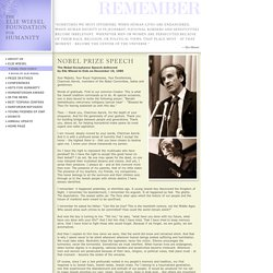 The Elie Wiesel Foundation for Humanity