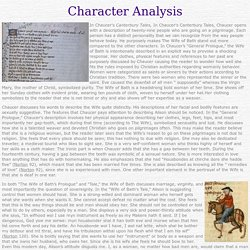 Wife of Bath - Character Analysis