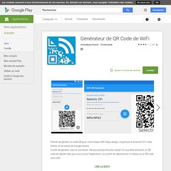 WIfi générateur de code QR - AndroidMarket
