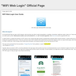 WiFi Web Login User Guide