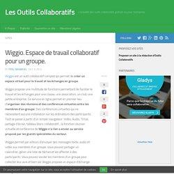 Wiggio. Espace de travail collaboratif pour un groupe.