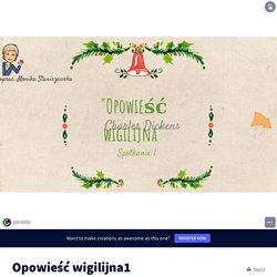 Opowieść wigilijna1 by monika.staniszewska4 on Genially