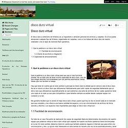 Wiki-TIC-Cervantes - disco duro virtual
