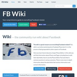 FB Wiki – the community run wiki about Facebook