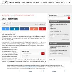 Wiki: définition