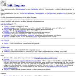 Wiki Engines