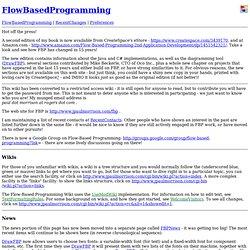 Wiki: FlowBasedProgramming