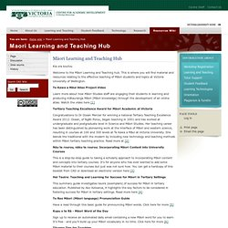 CAD Wiki: Maori Learning and Teaching Hub