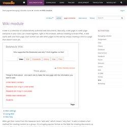 Wiki module