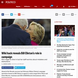 Wiki hack reveals Bill Clinton's role in campaign
