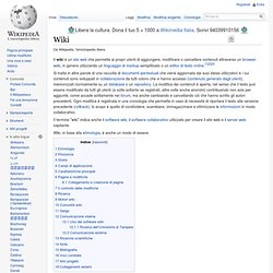 Il wiki in Wikipedia