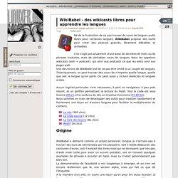WikiBabel - des wikicasts libres pour apprendre les langues - LinuxFr.org