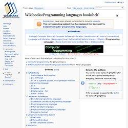 Programming languages bookshelf