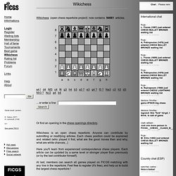 Wikichess, open chess repertoire project