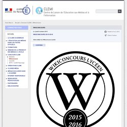 CONCOURS WIKI - Wikiconcours (CLEMI)