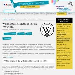 Wikiconcours des lycéens édition 2015-2016
