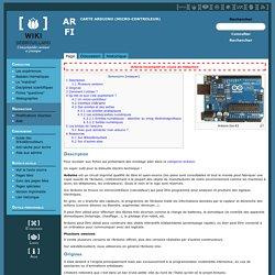 Carte Arduino (micro-controleur)