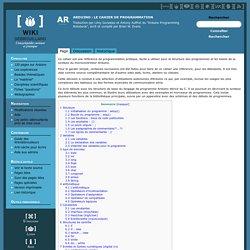 Arduino : Le cahier de programmation