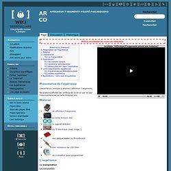 Afficheur 7 segments piloté par Arduino