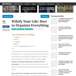 Wikify Your Life: How to Organize Everything - Stepcase Lifehack