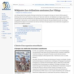 Wikijunior:Les civilisations anciennes/Les Vikings